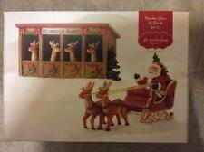 St. Nicholas Square® Village Reindeer Barn and Sleigh (Set of 2)