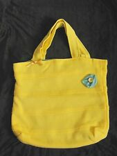 "Hand crafted Quality Lemon Yellow Laundry  Storage Tote Shopping Bag  14"" x 14"""