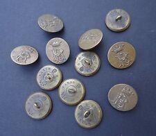 12 boutons de livrée MARQUIS initiales RP PR french livery buttons