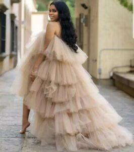 High Low Tulle Gown, Wedding Dress,  Birthday Dress, PhotoShoot Tulle Prom Dress