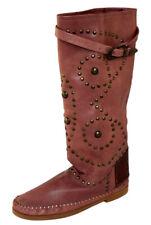 Piampiani  Schuhe Mokassins Stiefel Boot  Made in Italy Gr.40 INDI1 ROSÉBRAUN