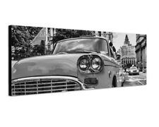 150x50cm New York Street Building Taxi Old Vintage