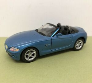 WELLY 1/32 DIE CAST BMW Z4 42328 BLUE MET. EXCELLENT