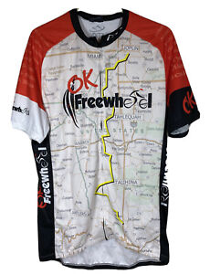 Epix Mens Bicycle Jersey Divide+Conquer OK Freewheel Sz XL EUC
