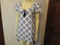 Navy/white Flutter Sleeve Cover-Up by Mud Pie, Size Small, NWT