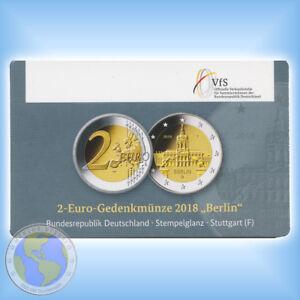 """2 Euro DEUTSCHLAND 2018 """" Berlin - Schloss Charlottenburg """" Coincard - F nur 300"""