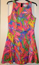 Milly Multi-color Slim Flounce Skirt Dress Size 8