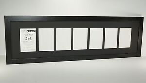 CPF - 7 Opening Glass Face Black Frame with 10x36 Collage Holds 4x6