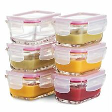 Superior Glass Baby Food Storage Containers - Set of 6-4 Oz Containers 6 Pack
