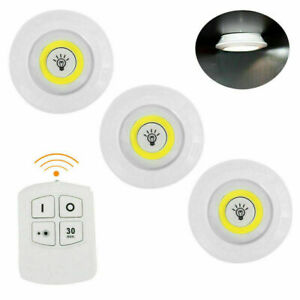SET 3 FARETTI LED LIGHT CON TELECOMANDO REMOTE CONTROL PER SOFFITTO ARMADIO