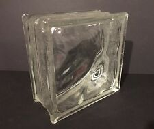 Vintage Glass Block 8x8x4 NEW Pittsburgh Corning Clear Waves Frosted Edges