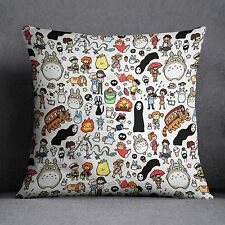 New All Studio Ghibli Characters Totoro Cute Polyester Throw Pillow Cushion Case