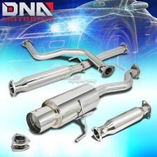 """FOR 96-00 CIVIC 3DR EJ6 4.5"""" TIP MUFFLER PERFORMANCE CATBACK+HIGH FLOW EXHAUST"""
