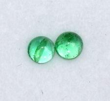 0.28 Cts Natural Emerald Round Cabochon Pair 3 mmUntreated Loose Gemstones