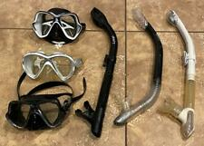 Lot of 6 - Mares Scuba Diving Snorkeling Mask & Snorkel Set