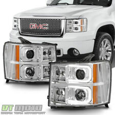 New 2007-2013 GMC Sierra 1500 2500 OPTIC LED Bar Projector Headlights Headlamps