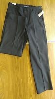 MENS PANTS-IZOD AMERICAN CHINO-NAVY BLUE-W33 L32-100%COTTON-FLAT FRONT-NEW WTAGS