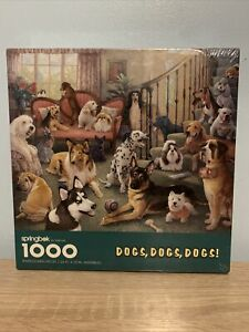 Springbok Jigsaw Puzzle Dogs Dogs Dogs PZL6131 1000 Pieces New Sealed