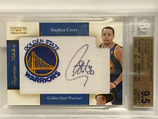 2010-11 STEPHEN CURRY NATIONAL TREASURES SIG NBA TEAM PATCH 48/99 BGS 9.5 AUTO