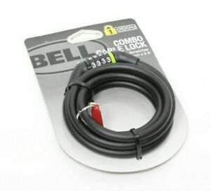 Bell Combo Cable Bike Lock - 8 mm x 5 Ft Protective Cover Prevents Scratches