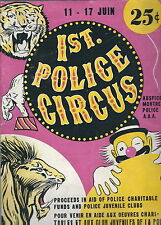 MB-030 - 1947 First Police Circus Program, Montreal, Canada, Vintage Illustrated
