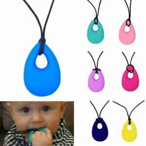 Teether Drop Ring Teething Baby Toddler Necklace Molars Tooth Silicone Kids Baby