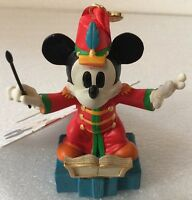 Disney Store Sketchbook Christmas Ornament MICKEY Mouse  Band Conductor 2014 NEW