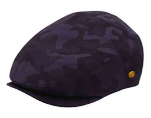 New Camouflage Cotton Cap Mens Ivy Hat Golf Driving Summer Sun Flat Cabbie Snap