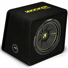 "Kicker CompC VCWC124 300W RMS 12"" Loaded Vented Subwoofer Enclosure Bass Box"