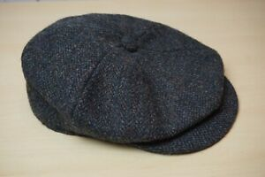Lock & Co. Hatters Tweed Wool Gray Flat Cap Newsboy Sz 7.5 XL England
