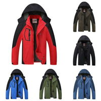 Waterproof Jacket Hiking Coat Winter Ski Outdoor Sport Rain Coat Hooded Overcoat
