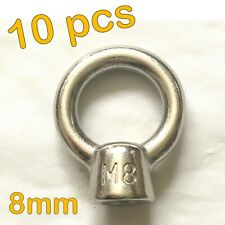 10pcs STAINLESS STEEL 8mm EYE NUT SHADE SAIL BOAT ROOF RACK BOLT NUT SS316