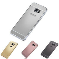 For Samsung Galaxy S6 Edge Plus 1P Luxury Metal Frame PC Mirror Back Case Cover