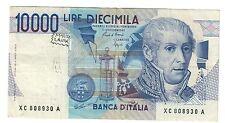 10000 lire volta serie sostitutiva xc....a 1988 rara scritta  lotto.1622