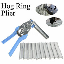 600Pcs M Clips Staples Bird Chicken Mesh Cage Wire Fencing+Hog Ring Plier Tool