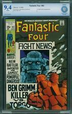 FANTASTIC FOUR # 92   US MARVEL 1969  Jack Kirby  CBCS 9.4 NM+