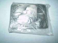 "Buckle Semi Truck International Solid Pewter Tonkin Inc 1991 3.3/8"" x 2.3/8"""
