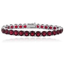 Red Swarovski Elements Tennis Bracelet