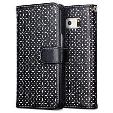 Patterned Leather Card Pocket Cases and Covers for Samsung Mobile Phones
