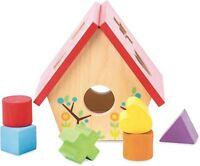 Le Toy Van PETILOU MY LITTLE BIRD HOUSE SHAPE SORTER Pre-School Wooden BN