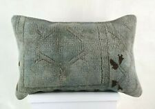 Kilim Lumbar Pillow Cover 16x24 in Handmade Oushak Rug Traditional Cushion E1214