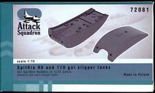 Attack Squadron Models 1/72 SPITFIRE 90 & 170 GALLON SLIPPER TANKS Resin Set