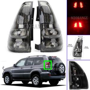 2X Smoked Left Right Tail Light Lamp For Toyota Land Cruiser Prado J12 2002-2010