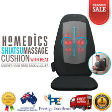 HoMedics Shiatsu Back Massage Cushion Lumbar Deep Kneading Heat Massager Chair