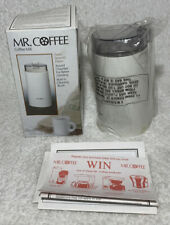 Mr Coffee Mill Round Chamber Model IDS50 White NIB Box Tore Top w Cleaning Brush