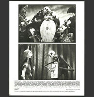 Disney Press Photo Tim Burton Nightmare Before Christmas Jack and Sally c1993
