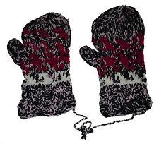 Winter GLITTEN - Pink Handmade Natural Pakistani Wool - Flip Glove Mitten B10