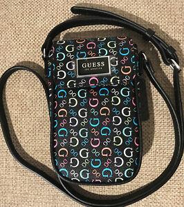 Guess Los Angeles Black Logo Terence Mini Crossbody Bag/Purse NWT FREE SHIPPING