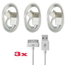 3X iPhone 2G/ 3G/ 3GS/ 4/ 4S/ Usb Ladekabel Datenkabel Sync Kabel