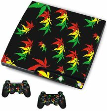 Weed Leaf Sticker/Skin PS3 Playstation 3 Console/Remote controllers,psk25